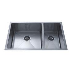Square Double Bowl Kitchen Sink