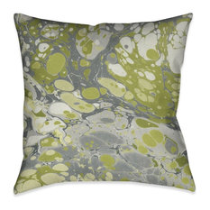 Laural Home Olive Marble Throw Pillow