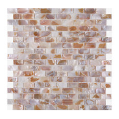 B03 Wall Tile Mother Of Pearl Shell I-Shaped Rectangle Home Arts Mosaic Tiles
