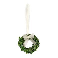 Preserved Boxwood Small Wreaths, Set of 6