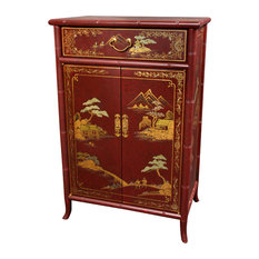 Attrayant Oriental Furniture   Japanese Shoe Cabinet, Red Crackle   Accent Chests And  Cabinets