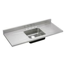 """Elkay Lustertone Stainless Steel 60"""" x 25"""" x 7-1/2"""", Single Bowl Sink Top"""