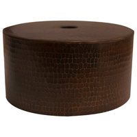 Premier Copper Products Hand Hammered Copper Round Cylinder Pendant Light Shade