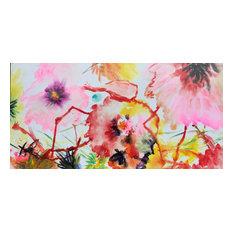 """Watered Flowers"" Hand Painted Oil Canvas Artwork; Modern Art; Fine Art"