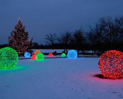 creating led light balls unique outdoor decorations - Outdoor Christmas Light Balls