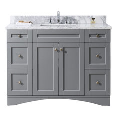 "Elise 48"" Single Bathroom Vanity Cabinet Set, Gray"