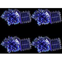 100-Led Solar String Fairy Light Waterproof, Set of 4, Blue