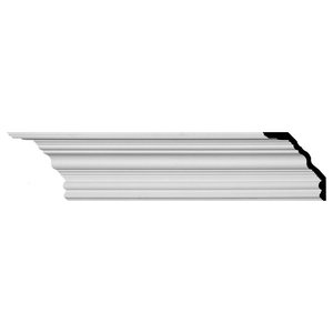 2H x 1 7//8P x 2 3//4F x 94 1//2L Reece Traditional Smooth Crown Moulding 2-Pack