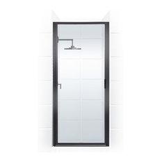 "Coastal Shower Doors P24.66-C Paragon Series 24"" x 65"" Framed Continuous Hinge"