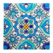"4""x4""  Alhambra Tile, Set of 180, Turquoise Mediterranean Pool Tiles"
