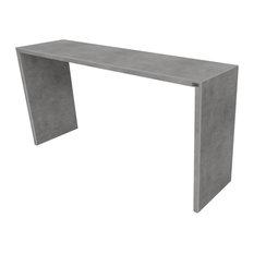 Circa Concrete Console Table Charcoal