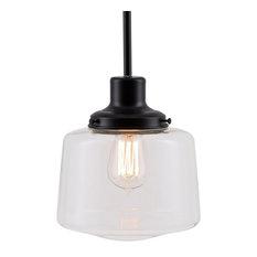 Scolare Pendant Light with Bulb, Black