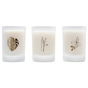 Mini Soy Wax Candles, Set of 3, Floral Scents