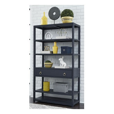 Liberty Midnight Accent Bookcase, Wire Brushed Denim