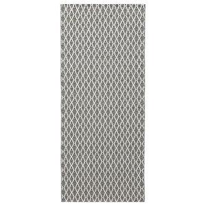 Eye Woven Vinyl Floor Cloth, Grey, 70x200 cm