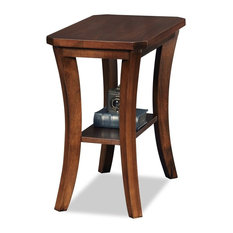 Leick Boa End Table in Chocolate Cherry
