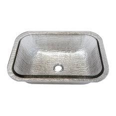 undermount vanity sinks. Residence - Mirage Glass Undermount Bathroom Sink, Black Nickel, 20\ Vanity Sinks A