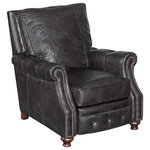 Hooker Furniture - Old Saddle Black Recliner Chair - Give your space a luxurious update with the Old Saddle Black Recliner Chair. This piece helps your design stand the test of time with muted coloring, soft fabric and sturdy construction. Accent your home office or living room with the Old Saddle Black for comfy, classic style.