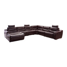 Leather Sectional Sofa Left With Recliner