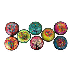 8 Piece Set Funky Trees Cabinet Knobs