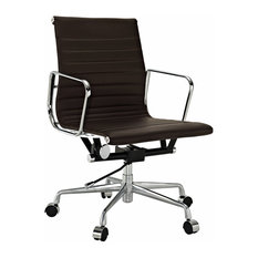 lexmod ribbed mid office. times concepts modern ribbed mid back office chair leather brown chairs lexmod