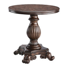 Traditional Pedestal Table with Casters