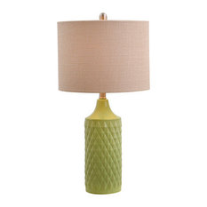 Alexa Quilted Ceramic Table Lamp   Table Lamps