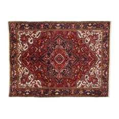 Esmaili Rugs - Consigned, Vintage Persian Heriz Ru With Modern Style, 08'00x11'06 - Area Rugs
