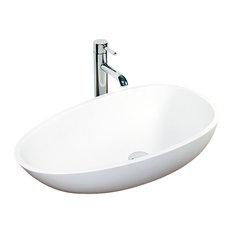 Badeloft Stone Resin Countertop Sink, Matte
