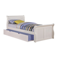 Donco Kids Evanson Twin Sleigh Bed With Rollout Trundle