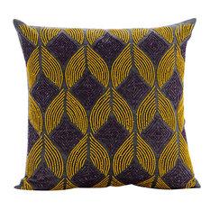 Grey Decorative Cushion Cover, Silk, Moroccan Nights, 50x50 cm
