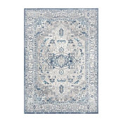 Safavieh BRENTWOOD 851 Area Rug, Light Grey / Blue, 6' x 9' Rectangle