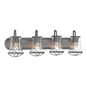 Darby 4-Light Bath Bar, Weathered Iron