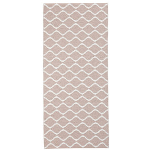 Wave Woven Vinyl Floor Cloth, Pink, 70x300 cm