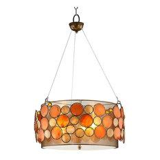 50 most popular orange pendant lights for 2018 houzz ok lighting capiz shell pendant lamp pendant lighting aloadofball Gallery