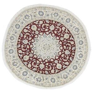 Nain 9La Oriental Rug, Round Hand-Knotted, 155x155 cm