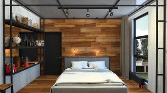 Дизайн проект интерьера коттеджа с элементами стиля Лофт в г. Томск