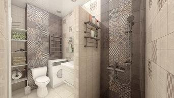 """Дизайн квартиры №168 100кв.м в ЖК """"Триумф"""", Г.Сочи, ул. Кирпичная 2."""