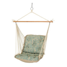 Hatteras Hammocks   Hatteras Hammocks Tufted Single Swing, Cabaret Blue  Haze   Hammocks And Swing