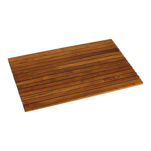 Cosi Wood Spa String Mat, Solid Teak Wood and Oiled Finish