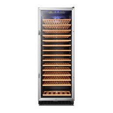 LANBO Wine Cellar Fridge, 149 Bottle Triple Zone Compressor Red Wine Cooler