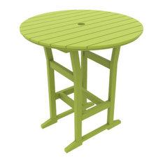 "Cafe Fusion 40"" Round Bar Table, Leaf"