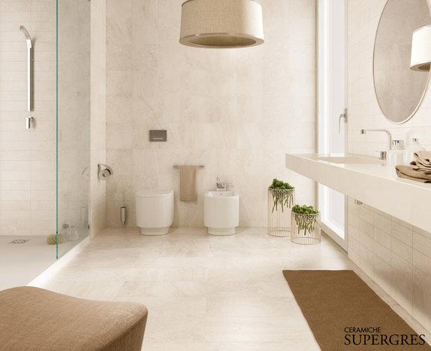 Guida houzz per bagni pratici e raffinatissimi scegli le - Pavimenti e rivestimenti bagno moderno ...