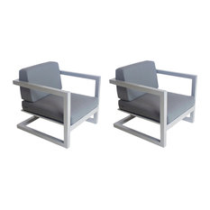 Outdoor Alhama Chairs, Set of 2, Silver
