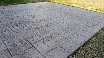 Backyard patio, Elk Township