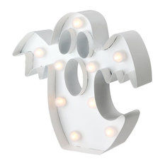 """9.25"""" LED Battery Operated Marquee Ghost Halloween Decor"""