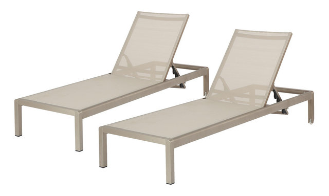 Holborn Outdoor Chaise Lounges, Set Of 2, Gray