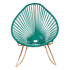 Innit Designs Junior Acapulco Rocker Chair, Copper Base, Tealy Turquoise