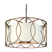 Sausalito, Chandelier, Silver Gold