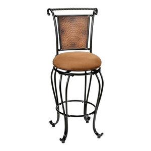 Hillsdale Furniture Milan Bar Stool, Black/Copper Accent - 4527-831 Hillsdale Furniture